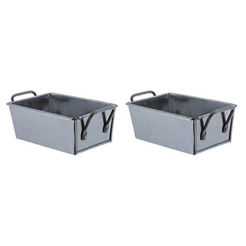 American Metalcraft (GSP35) Galvanized Steel Sugar Packet Holder (2 Pack)