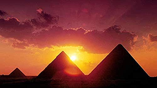 Wooden Jigsaw Puzzle 1000 Pieces,landscape Nature Egypt Pyramid Diy Kit Wooden Puzzle Modern Home Decor Boys Girls Unique Gift Stress Reliever Unique Gift Stress Reliever