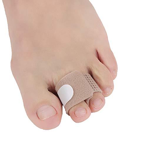 Artibetter 12pcs Zehenschienen Glätteisen Zehenband Bandagen Zehenspange gepolsterte Korrektur für gebrochene Zehen krummen Hammerzehenwickel s