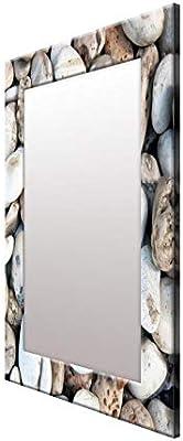 999Store Printed Multi Stone Rustic Pattern Mirror