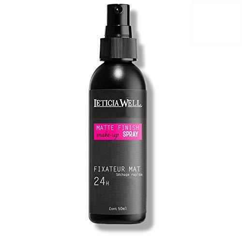 Fixateur de maquillage Spray Finish Matte par Leticia Well Fini Mat et longue tenue