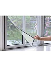VC Mosquito Insect Fly Bug Lizard Net Mesh for Window with Loop and Hook Tape, Size 4 ft by 2 ft