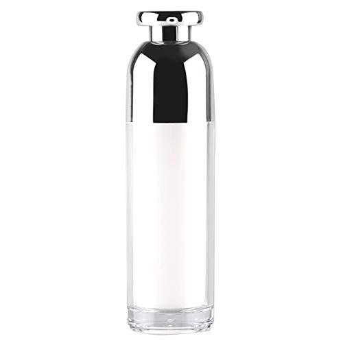 Deamrkt 1 STÜCKE 100 ml Leere Nachfüllbar Weiß Acryl hochwertigen Airless Vakuumpumpe Creme Lotion Foundation Flasche Dispenser Vial Reisecreme Lotion Toner Container Topf