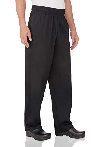 Chef Works Men's Essential Baggy Chef Pants, Black, Large