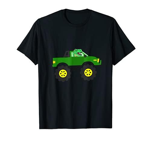 T-Rex montando un coche, Classic Car Dino Mechanic Racing Vi Camiseta