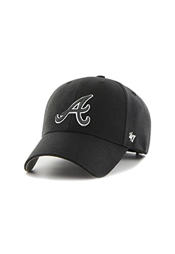 47Brand MVPSP01 Adjustable Cap Atlanta Braves Schwarz, Size:ONE Size
