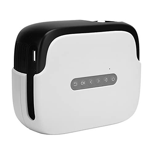Projektor, Einzigartiger Großbild-TV-Decoder Chip Led Umweltschutz Lichtquelle 100 Zoll Smart Projektor für Zuhause für Computer für Kopfhörer(Übersetzen)