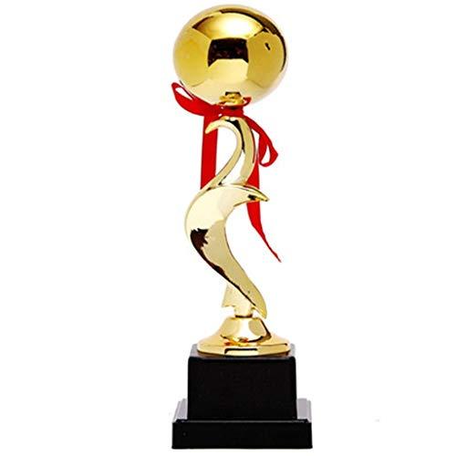 Qazxsw Baloncesto MVP del Partido Trofeo,Fútbol Trofeo Trofeo Sala De Estar Decoración Deportes Champion Trophy,Oro,8 * 8 * 34cm