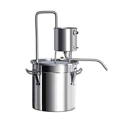 Nai-storage Destilador de Agua de Acero Inoxidable, Tubo de Cobre, Kit de elaboración casera, termómetro Incorporado para Bricolaje, Whisky, Vino, Brandy, Astilla (Size : 12L)