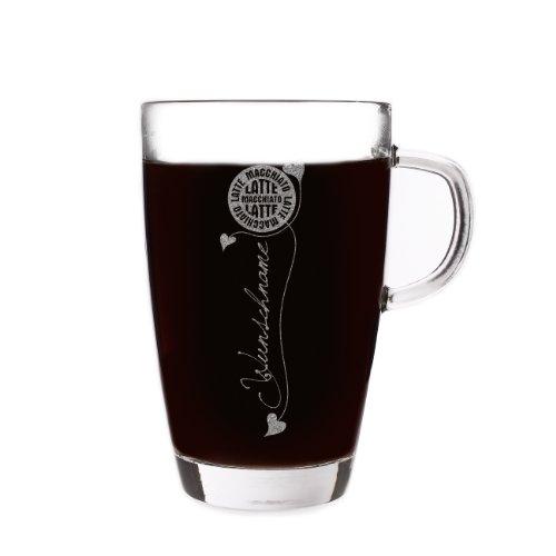 Privatglas Latte Macchiato Glas mit gratis Gravur des Namens - Motiv: Barista