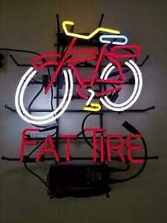 "New Fat Tire Belgian Neon Light Sign 17/""x14/"" Beer Cave Gift Lamp"