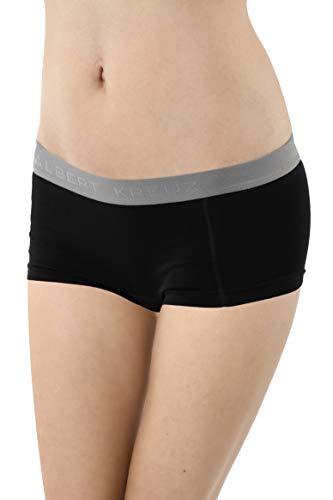 Albert Kreuz Damen Panty Boxershorts Stretch-Baumwolle schwarz Größe XS (34-36)