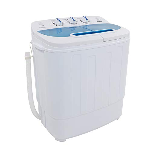 Price comparison product image ROVSUN 13.4LBS Portable Twin Tub Washing Machine,  Electric Compact Washer,  Energy Saving Spin Cycle w / Hose,  Great for Home RV Camping Mini Dorms Apartments College Rooms