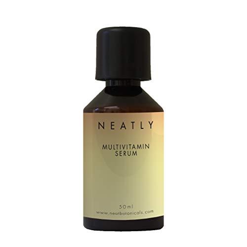Multivitamin-Serum von NEATLY I Für strahlende Haut und Faltenentferner 50 ml I Natürliches Antioxidationsmittel und Korrekturmittel für dunkle Flecken I Mit Anti Aging Effekt