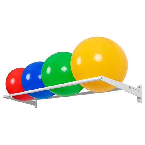 Wandhalterung Basismodul Ballregal Wandregal für Sporthallen, 4-tlg., 50x175 cm, Gymnastik, Gymnastikball
