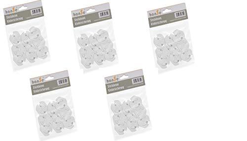Steckdosensicherung Kindersicherung Steckdosenschutz Steckdose Steckdosen zum Kleben mit Drehmechanik (50 Stück)