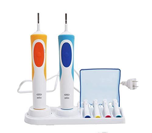 TonJin Cepillo de dientes eléctrico doble soporte para cabezales de cepillo de dientes eléctrico