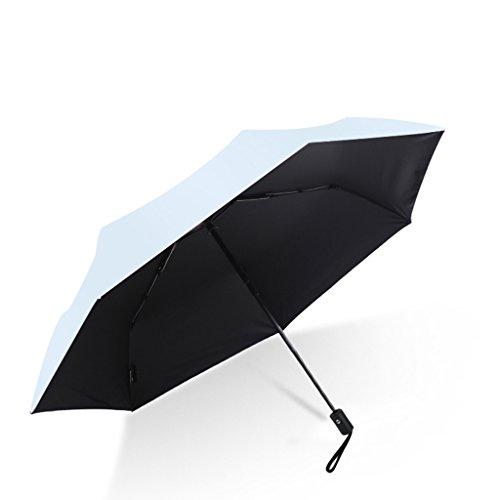shi xiang shop Kompakter Automatik-Regenschirm - Ultraleicht - Schnell trocknend und Winddicht mit automatischer Klappfunktion zum Öffnen und Schließen (Farbe : Hellblau)