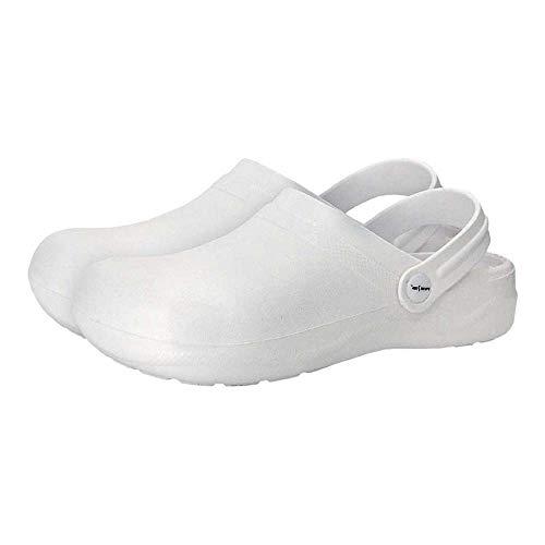 REIS Unisex kläder & pantoletter, vit, 42 EU