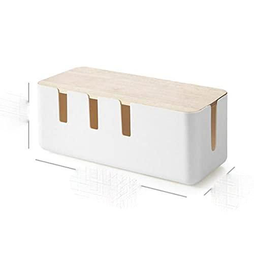 Caja de almacenamiento de cables Caja de almacenamiento de cables de tira de alimentación Caja de cable de enchufe de cargador antipolvo Línea de red de escritorio Almacenamiento Bin-1, Francia