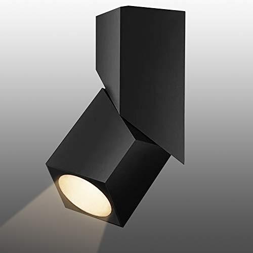 Budbuddy 12W Foco LED Lámpara de techo LED Luz de techo led Plafón con Focos Orientable 4000K COB luz blanca neutra Foco Giratorios Lámpara Focos de techo LED