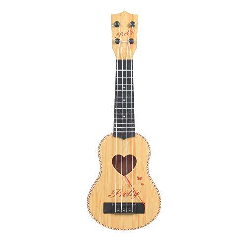 Moobom ウクレレ 子供 ギター 音楽 おもちゃ ミニギター 演奏 知育玩具キッズ 4弦 アコースティックギター 楽器玩具 初心者用