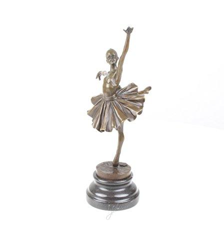 Bronzefigur Skulptur Statue Ballerina Tänzerin 31,7 cm