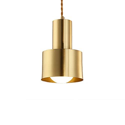 Gugutogo Nordic all-Rame Singola Testa Lampadario, Sorgente Luminosa LED Lampadario, Occhiali e anabbagliante, per la casa/Bancone/Ristorante/Modern