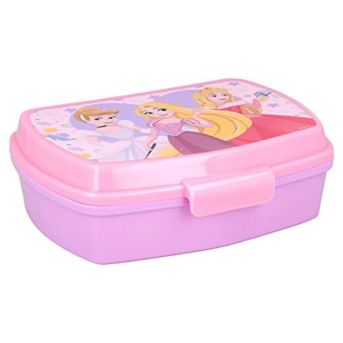 | Princesas Disney | Sandwichera Para Niños Decorada - Fiambrera Infantil | Caja Para El Almuerzo Y...