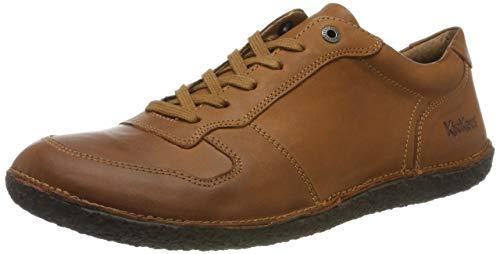 Kickers Home, Zapatos de Cordones Derby para Mujer, Marrón (Camel 114), 36 EU