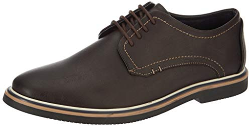 Amazon Brand - Symbol Men's Brown Synthetic Formal Shoes - 8 UK (AZ-KY-301A)