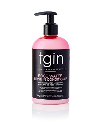 Rose Water Smoothing Leave-In Conditioner for Natural Hair - Protective Styles - Curls - Kinks - Waves - Detangler - Great for low porosity hair