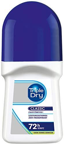 Triple Dry Anti transpirant Roll On/Deo Roller con 72STD–transpirant de protección/1er Pack (1x 50ml)