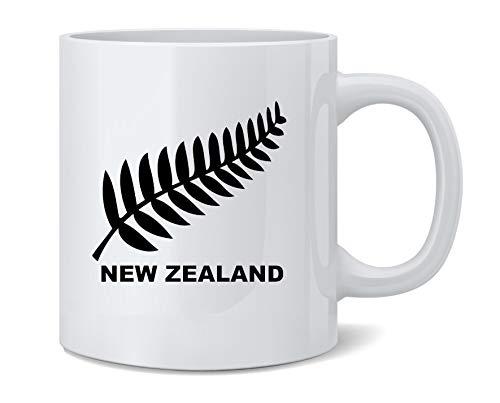 Poster Foundry New Zealand Retro Soccer Rugby Kiwi Fern Crest Ceramic Coffee Mug Tea Cup Fun Novelty Gift 12 oz