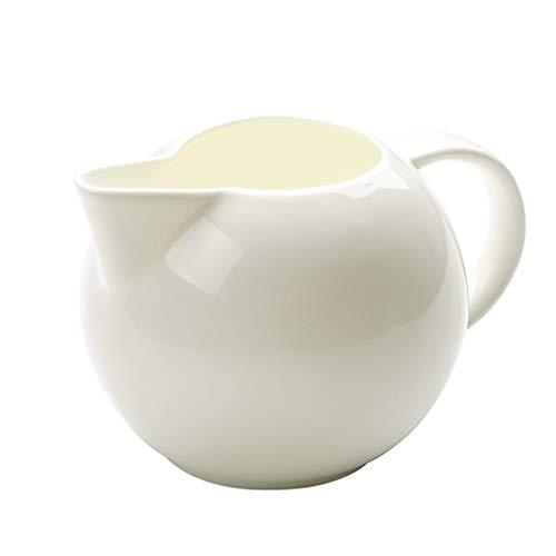 YIFEI2013-SHOP Jarra de Leche La Jarra de Porcelana Blanca dor café y té, Lanzador Crema, Leche Bowl, café Conjunto de la porción for la Boda/Mujeres/Regalos/Tarde Jarras para Crema