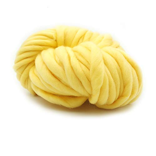 LHSJYG Thick Yarn,Arm Knitting Hilo Super Coars Special Manual Especial DIY DIY Woven Bufanda de Alambre de Alambre Línea de tapicería (Color : Beige)
