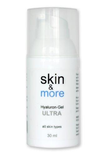 Hyaluron-Gel Skin&More Proseries Ultra 30 ml: Hyaloronsäure Konzentrat für die intensive Anti-Aging Gesichts-Pflege, Augen-Pflege und Haut-Pflege, Serum Hyaluronsäure