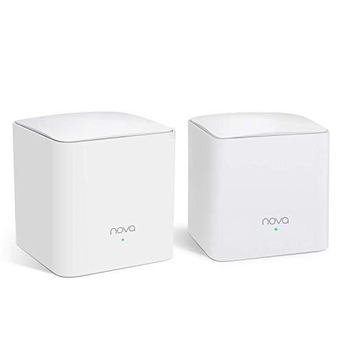 Tenda Nova AC1200 Komplettes Wi-Fi-System, 1 Würfel + 1 Satellit, Weiß