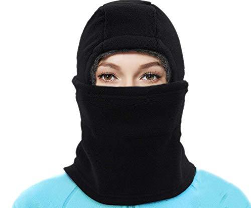 None Damen Herren Balaclava Sturmhaube Schalmütze Maske Radfahren Mütze Wintermütze Ski Wintermütze Unikat Style Warm Gefüttert (Color : #B Black, Size : One Size)