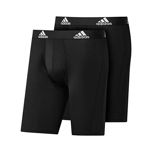 adidas Bos Brief 2pp Boxershorts für Herren, Herren, GU8890, Schwarz/Schwarz, M