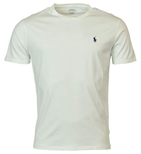 Polo Ralph Lauren Camiseta con cuello circular de hombre (X-Large, White)
