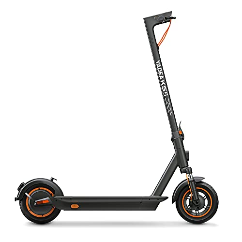 YADEA Electric Kick Scooter KS5, Max Speed 18.6 MPH, 25 Miles Range, Front Suspension, Foldable and Portable Commuter Electric Scooter for Adults with Cruise Control and Energy Recovery System, Gray