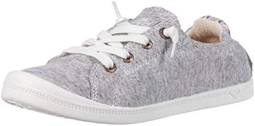 Roxy Women s Bayshore Slip on Shoe Sneaker Heathered Grey 8 product image