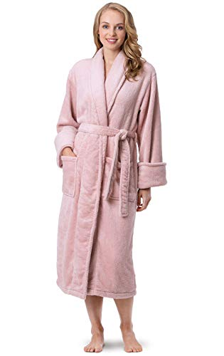 PajamaGram Women's Robes So Soft - Women's Fleece Bathrobes, Pink, 2X/3X, 20-26