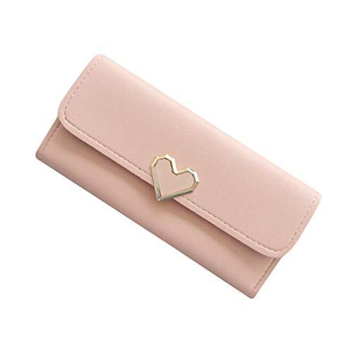 Sperrins 女性の財布PUレザークラッチハート型財布クレジットカードホルダー財布オーガナイザー