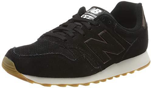 New Balance Damen 373 Sneaker, Schwarz (Black Black), 39 EU