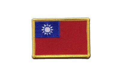 Aufnäher Patch Flagge Taiwan - 8 x 6 cm