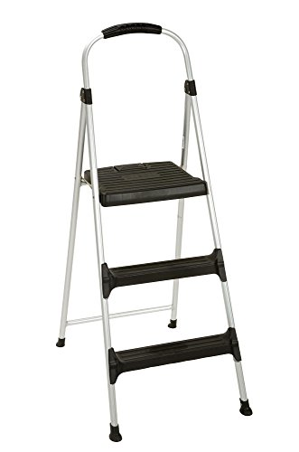 of cosco ladders Cosco Signature Step Stool Three-Step Aluminum with Plastic Steps