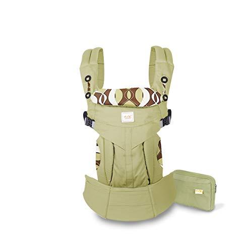SONARIN Mochila portabebé Convertible Premium,Ergonómica,capucha de dormir,para recién nacidos y bebés(3-48 meses),carga máxima 20 kg,Soporte para la Cabeza,Marsupio portabebé(Verde)