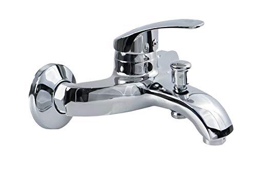 Rubinetto miscelatore bagno casa vasca grigio silver regolabile 8409